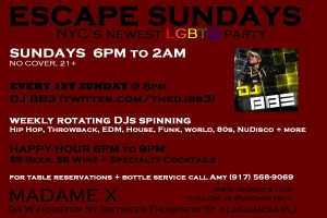 Escape Sundays @ Madame X - Main Bar | New York | New York | United States