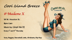 Cool Island Breeze - Early Holiday Special! @ Main bar @ Madame X | New York | New York | United States