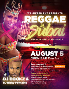 REGGAE IN DUBAI @ Top Bar - Madame X | New York | New York | United States