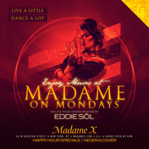 Live A Little, Dance A Lot @ Madame X - Main Bar | New York | New York | United States