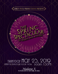 Siren Pack Productions presents: The Spring Spectacular of Secrets and Mystery @ Madame X - Top Bar