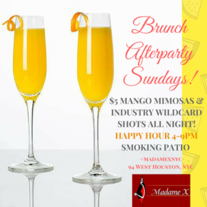 Brunch Afterparty Sundays @ Madame X - Main Bar | New York | New York | United States